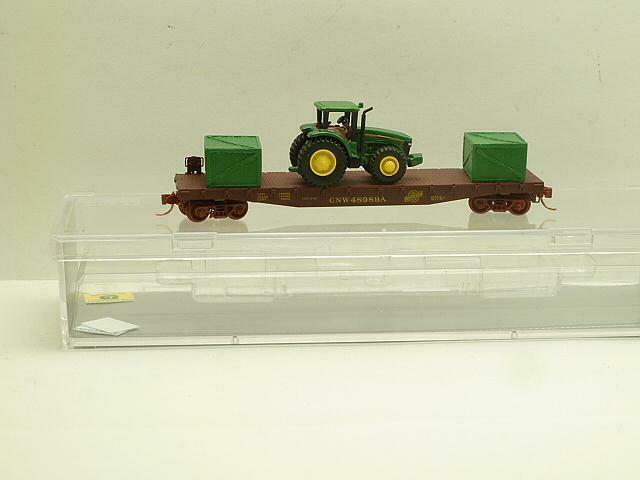 NSE 19-67 speziell laufen CNW 50' wohnung voiture with John Deere Tractor and Crates
