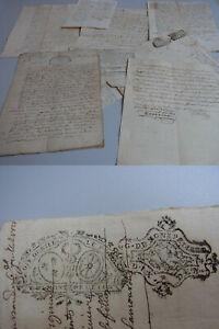 8-franzoesische-Dokumente-1720-26-Steuerstempel-Montpellier-u-a-ueber-Poussan