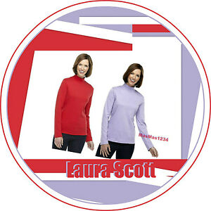 Laura-Scott-Women-039-s-Mock-Neck-Knit-Top-NEW-with-Tags-Fast-Free-Shipping