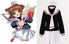 Anime Card Captor Sakura Girl Sailor School Uniform Cosplay Costume SMALL