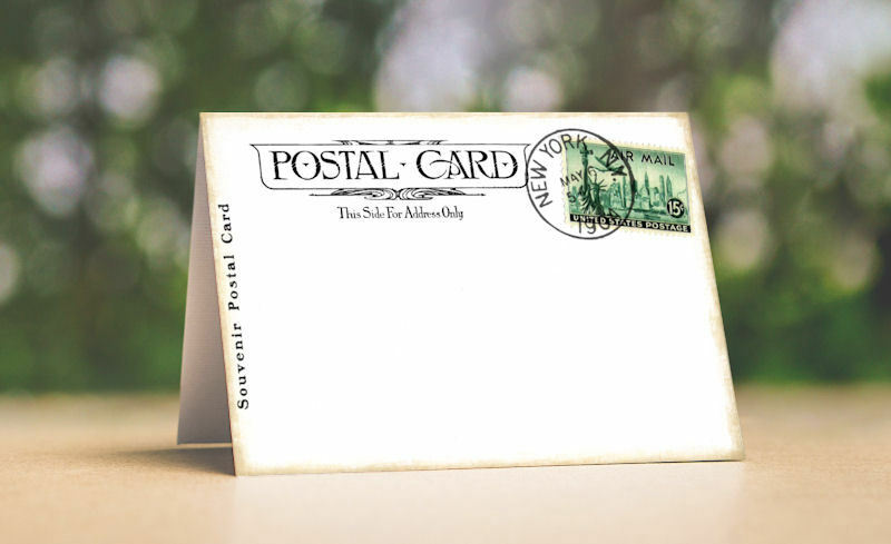 VINTAGE STYLE POST CARD TENT STYLE WEDDING PLACE CARDS or TABLE CARDS  619