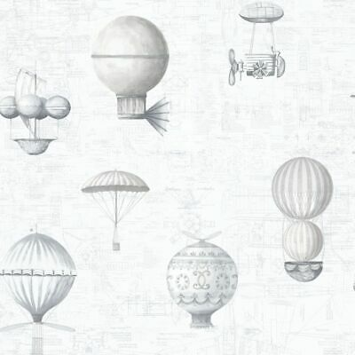 Essener Tapete Nostalgia G56203 Balloons Montgolfier Balloon Fleece