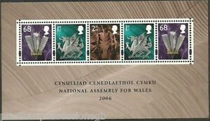 GB MNH STAMP SHEET 2006 NATIONAL ASSEMBLY FOR WALES SG MSW143 10% OFF ANY 5+