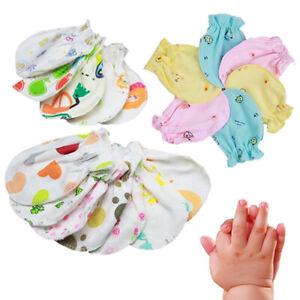 Newborn Cotton Baby Mittens 4 pairs boy girl unisex anti scratch Mitts