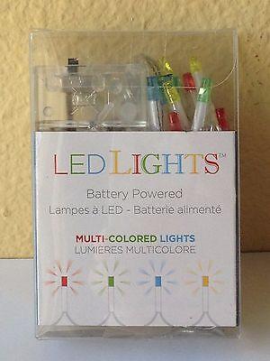 FAIRY GARDEN Village CHRISTMAS 20 Bulb Battery LED LIGHTS Light Strand Multi NEW