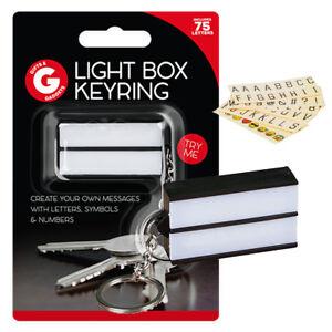 Keychain-Cinematic-Light-Box-LED-Light-Keyring-White-Message-Box-Stocking-Filler