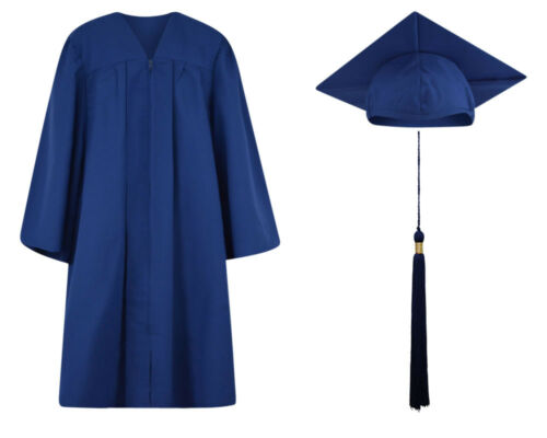 Matte Finish Graduation Cap Gown and Tassel 12 colors /& 13 sizes available