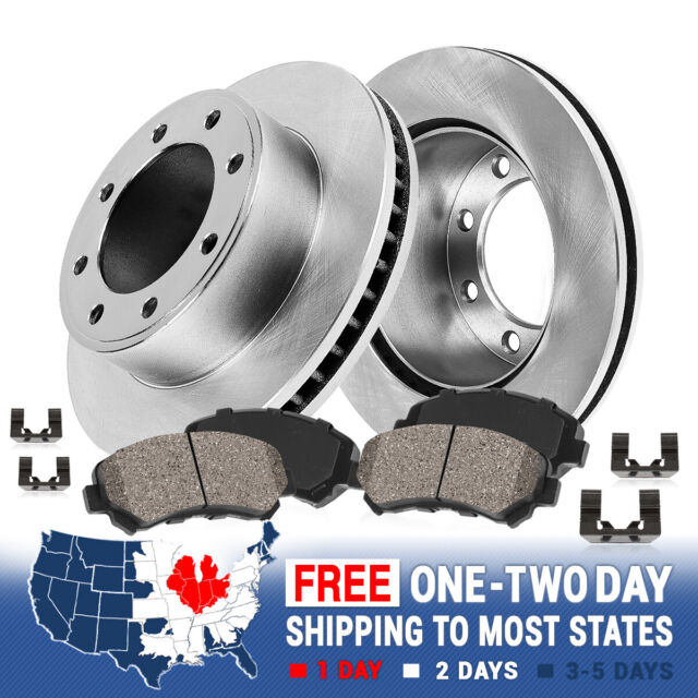 Rotors Metallic Pads F+R OE Replacement 2011 2012 Ford F250 Super Duty 4WD