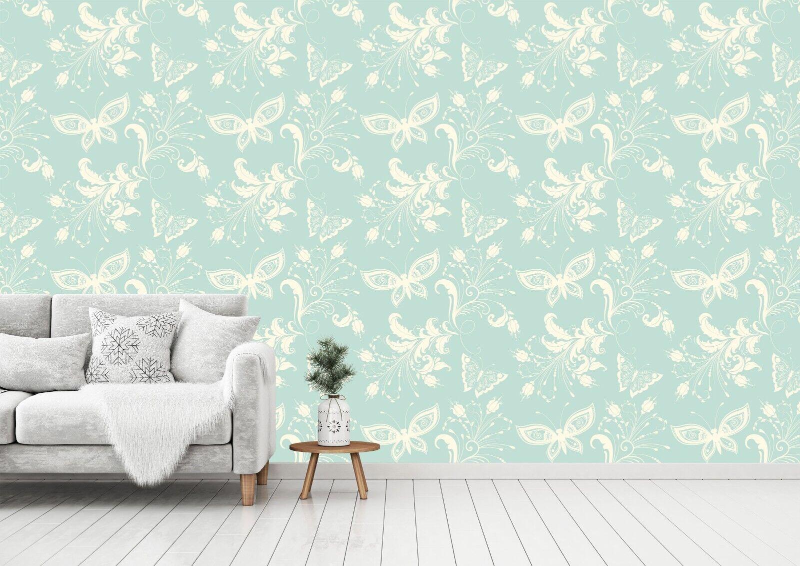 3D Flowers Butterflies 58 Wallpaper Murals Wall Print Wallpaper Mural AJ WALL UK