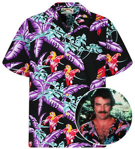 où acheter chaussures de course Excellente qualité Original Tom Selleck Magnum, P.I. Chemise Hawaïenne Shirt black ...