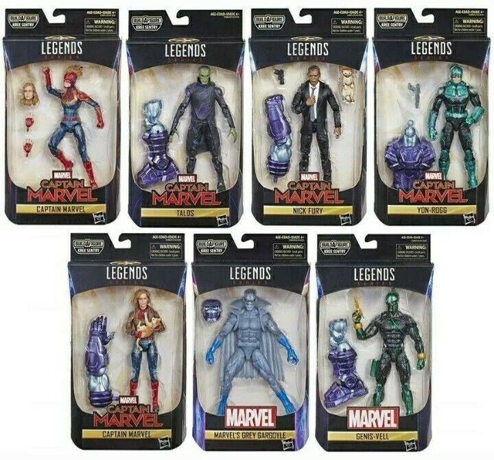 Marvel leggende CAPITANO Marvel Serie BAF WAVE Sentinella Kree Set di 7 NUOVE Nuovo di zecca in confezione