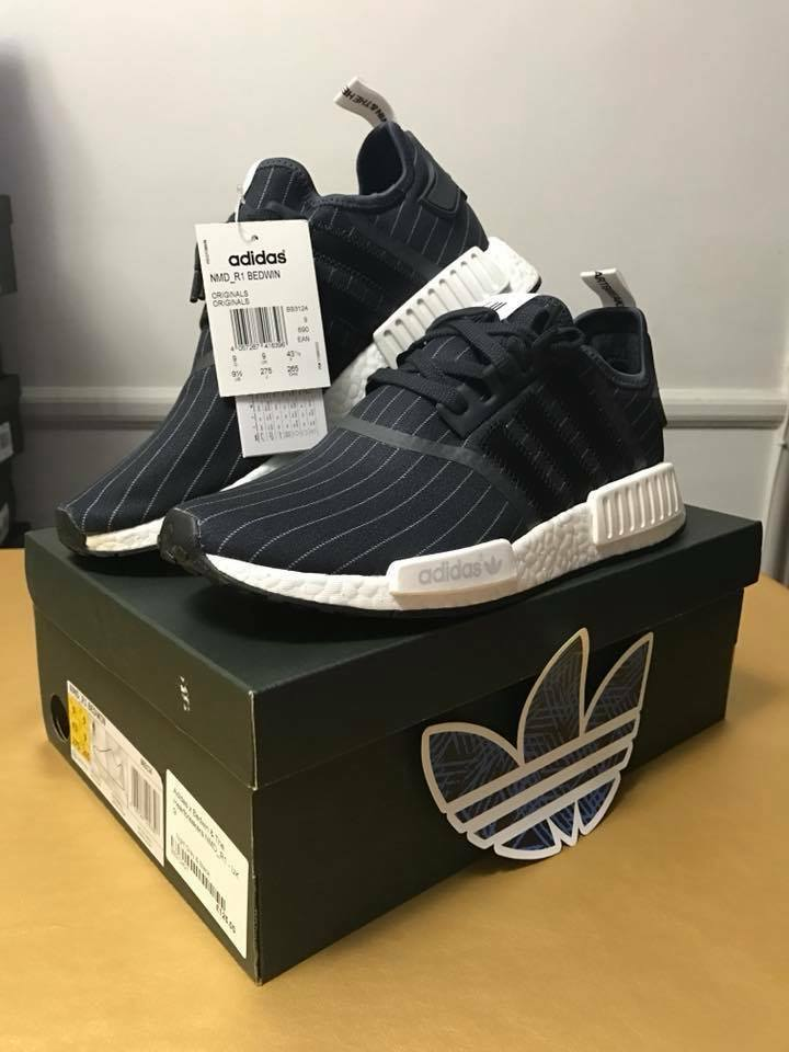 NMD R1 Adidas X Bedwin & The Heartbreakers Night Grey & Black Mens Size