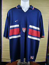 Nike Dri-Fit US Soccer Jersey VTG Vintage Shirt Blank Back USA XL B1