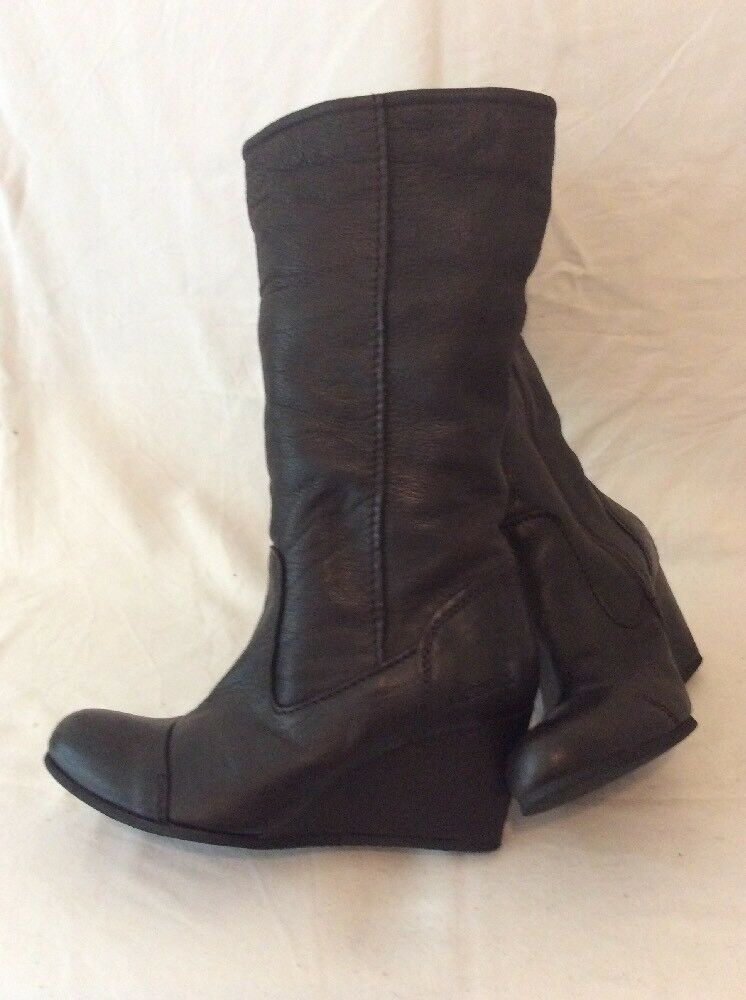 Bench. Dark marron Mid Calf Leather bottes Taille 7