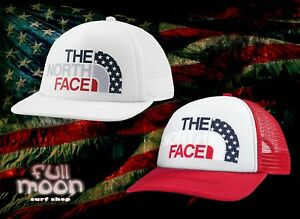 18d06b4d5 Details about New The North Face USA Pride Womens Snapback Trucker Hat Cap