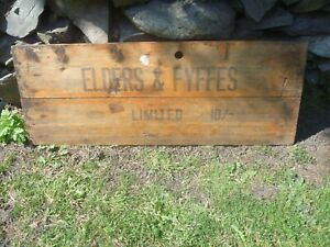 """Vintage/Antique """"ELDERS & FYFFES"""" advertising wooden sign...Fruit & Veg Shop,Bar"""