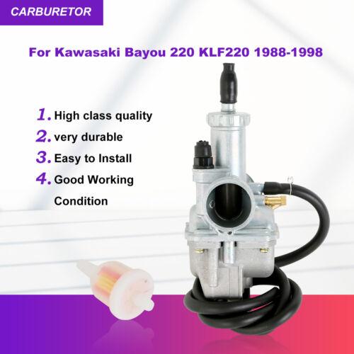 New Carb Carburetor For Kawasaki Bayou 220 KLF220 KLF 220 1988-1998 ATV Quad