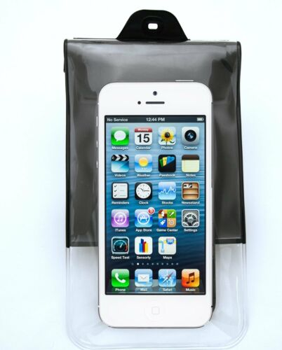 DiCAPac Waterproof Case for Apple Phones and Other Smartphones BLACK C10i