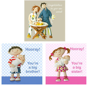 Congratulations on your new arrival baby greetings cardsnew brother image is loading congratulations on your new arrival baby greetings cards m4hsunfo