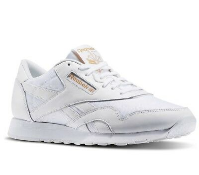 Reebok Men's Classic Nylon Arch Trainers Running Shoes BD3076 White | eBay