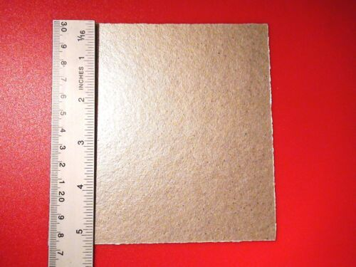 """2x micro-ondes housse feuille mica amiante extra chaleur guide d/'ondes 5/"""" 130mm square uk"""