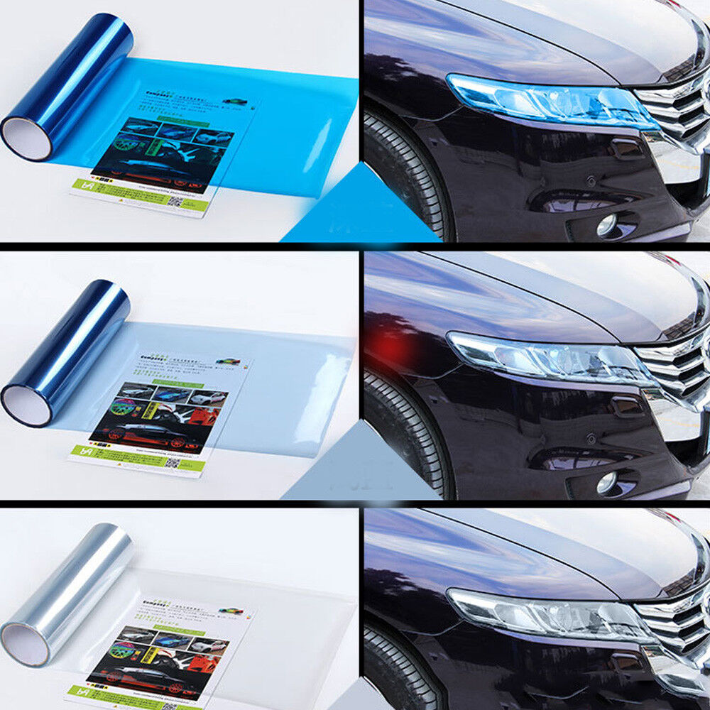 Car Headlight Taillight Fog Light Sticker Tint Protector Film Vinyl Wrap Decals 4