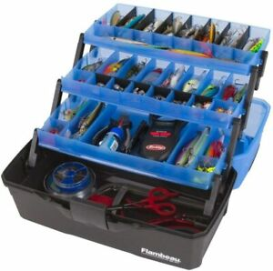 """Flambeau Outdoors 3 Tray,Fishing Tackle Boxes - Frost Blue/Black,16 x 9 x 8.25"""""""