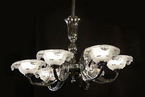 Lustre-d-039-epoque-Art-Deco-Chandelier-Vintage-Art-Deco