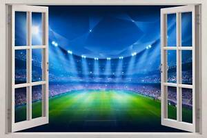 Football Stadium View 3D Window Decal WALL STICKER Decor Art Part 38
