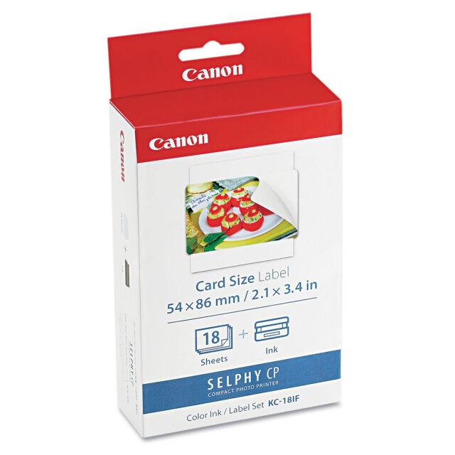 Canon 7741A001 (KC-18IF) Ink & Label Set Black/Tri-Color