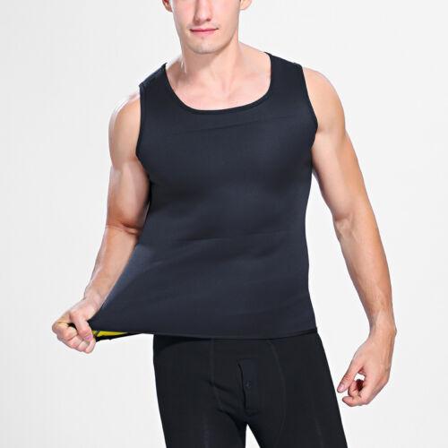 Neoprene Sauna Gym Vest Men Loose Belly Slim Waist Compression Chest Slimming