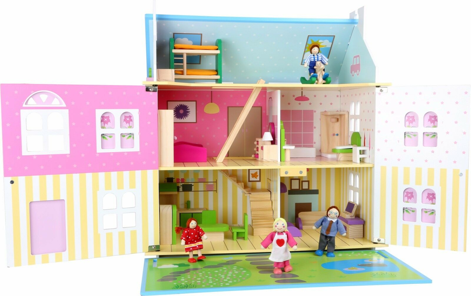 Doll House Luxury Flower Paradise Paradise Paradise Furniture Included Girls Dream Gift Pretty NEW 99b40f