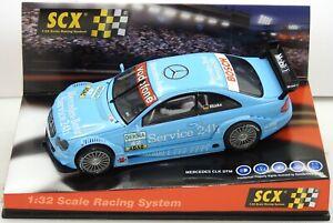 61400-SCX-Mercedes-CLK-DTM-Service-24-hr-Mucke-42-1-32-RACING-slot-car