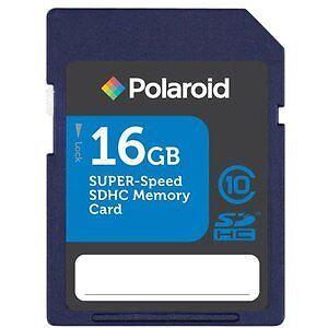Polaroid SDHC Memory Card 16GB Class 10