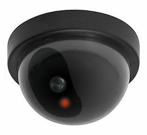 1 Realistic Dummy Security CCTV Fake Camera LED Light Indication ...