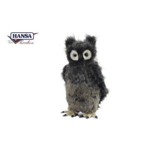 Hansa Owl Bubo Grey Plush Animal Stuffed Toy Realistic Crafted