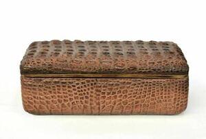 Faux-Crocodile-Reptile-Skin-decorative-Box