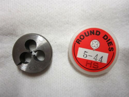 "#5-44 Thread Adjustable Round Die 1/"" Outside Diameter High Speed Steel 3//8/"" Wide"