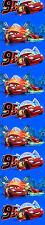 BLICKDICHTE Disney Cars Gardine Kinder Vorhang Cars Gardinen Auto blau 245cm