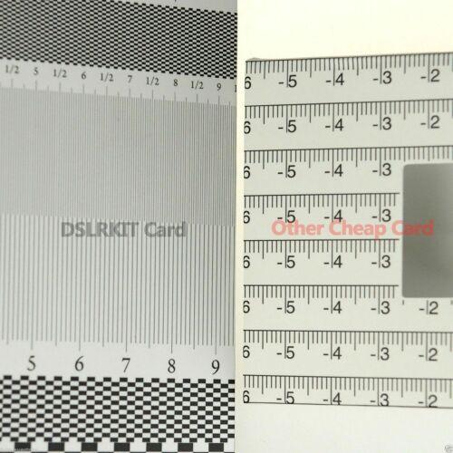 Lens Focus Calibration Tool Card Alignment for Sony Panasonic Pentax Nikon Canon