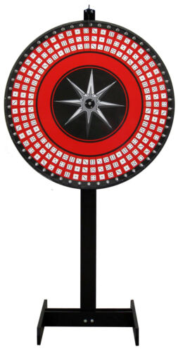 36 DICE WHEEL, GAME WHEEL, PRIZE WHEEL. TALL FLOOR STAND! Laydown Included