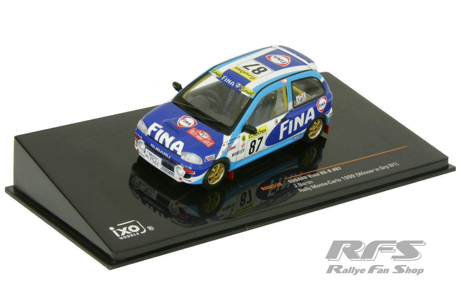1 43 subaru Vivio RX-R-Team fina Rally-Barth-Rally Rally-Barth-Rally Rally-Barth-Rally de Monte Carlo 1999 e1e71c