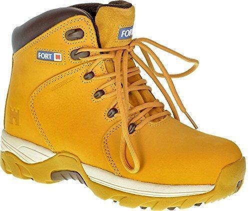Mens Work Safety Boots Defiance Waterproof Ankle Shoes Groundwork Steel Toe Cap