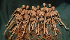 New! 12 Lot Plastic Skeletons 6-inch Miniatures Halloween Decor Dollhouse Small