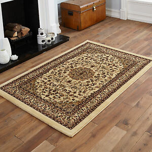 Image Is Loading Beige Extra Large Rug Traditional Quality Clic 200x290cm