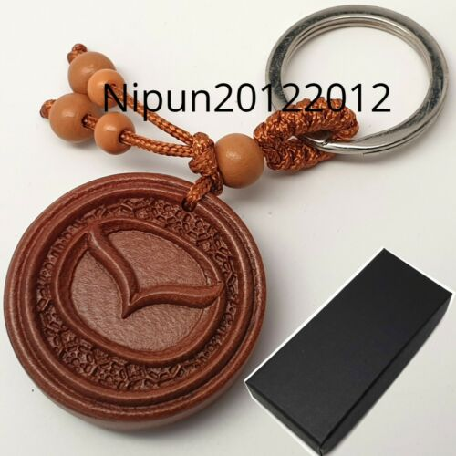 Mazda wooden Key Ring keyring fob chain case holder Wood Oil Finish