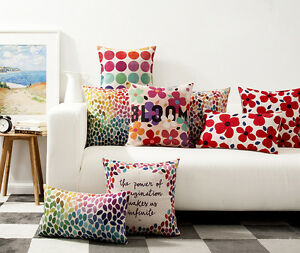 Colorful-Leaves-Flower-Bloom-Dots-Cushion-Cover-Home-Cafe-Decorative-Pillow-Case