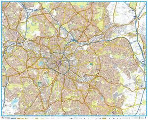 AZ Birmingham Street Map Wall Map Paper 9781782572046 eBay