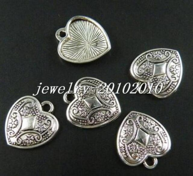 Wholesale 70pcs Fox Tibetan Silver Charms Pendants Jewelry Making DIY 12*15mm