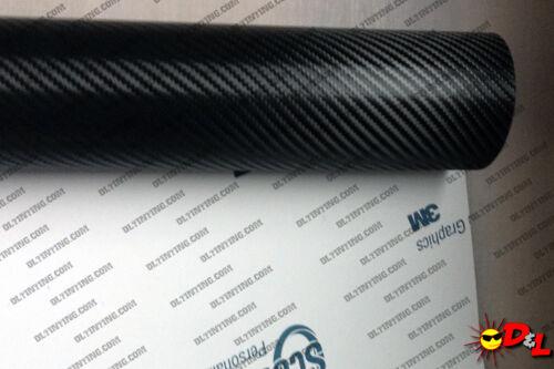 "3M Scotchprint Black Carbon Fiber Wrap Film 12/""x72/"" 6sq ft."